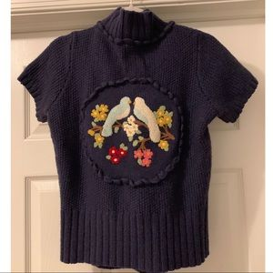 Anthropologie Moth Lovebirds Cardigan Size Large